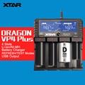 XTAR Original DRAGÓN VP4 MÁS Inteligente Cargador de Batería Set con Bolsa sondas de Adaptador y Cargador de Coche para 18650 y La Batería, etc