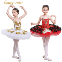 bb21b886f9 SONGYUEXIA Children Ballet Camisole Skirt Kid Professional Ballet Tutu  Skirt Children Paillette Major Ballet Dance TUTU