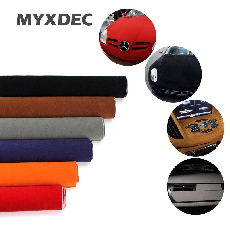 100*30CM 8 colori tessuto di velluto pellicola di velluto pellicola scamosciata adesivo per auto con bolla adesivo per interni auto adesivo decorativo per carrozzeria