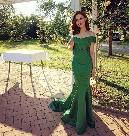 Robe De Soiree Hot Sell V-neck Floor Length Women Mermaid Royal Blue Long Evening Dress 2016