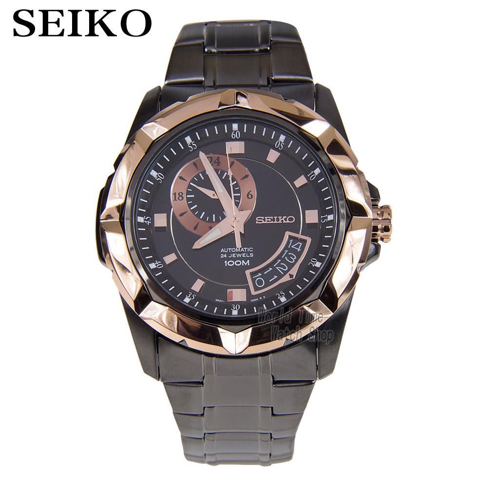 Seiko Lord Automatic Two-Tone-Stainless-Steel  Mens Rose Gold-Tone Watch SSA230K1 SSA222K1 seiko lord sur138p1