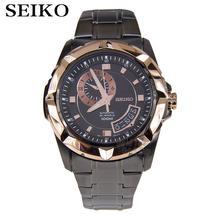 Seiko «Seigneur» Automatique Deux-Tone-Inoxydable-Acier Mens Or Rose-Ton Montre SSA230K1 SSA222K1