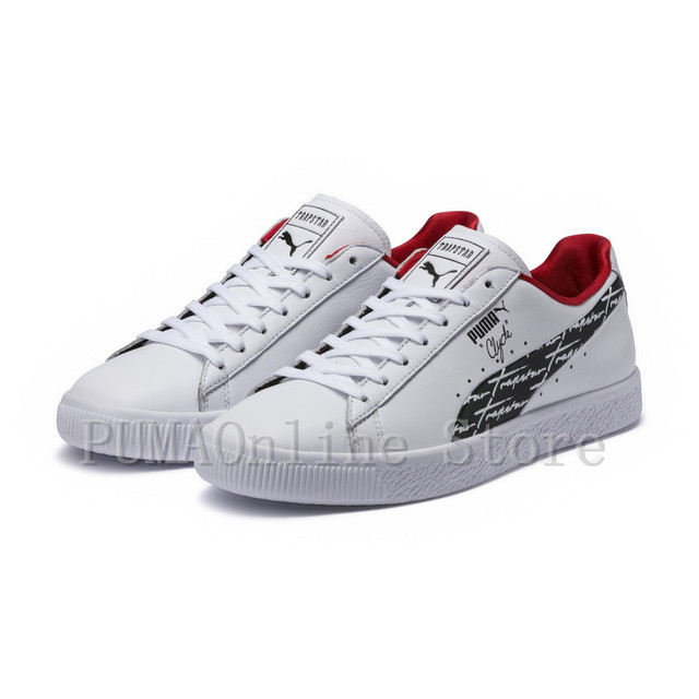 ee13cb198bb 2018 Puma x TRAPSTAR Clyde Core L Foil JR Men s and Women s Sneaker  Badminton Shoes Size 36-44