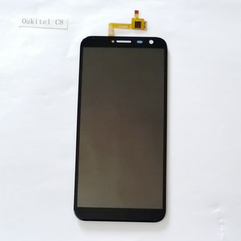 Oukitel C8  LCD Display+Touch Screen Panel Digital Replacement Parts Assembly 5.5 inch +Adhesive LCD Glass