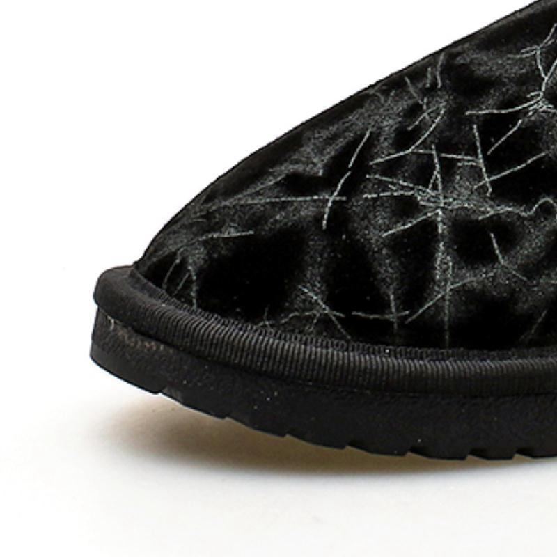 En Noir De Chaud Appartements Cheville Taoffen 39 Peluche Taille Femmes gris 34 Ajouter Boucle Véritable Bottes Hiver Imprimer Zipper Chaussures Neige Cuir Fourrure 818IAOwq