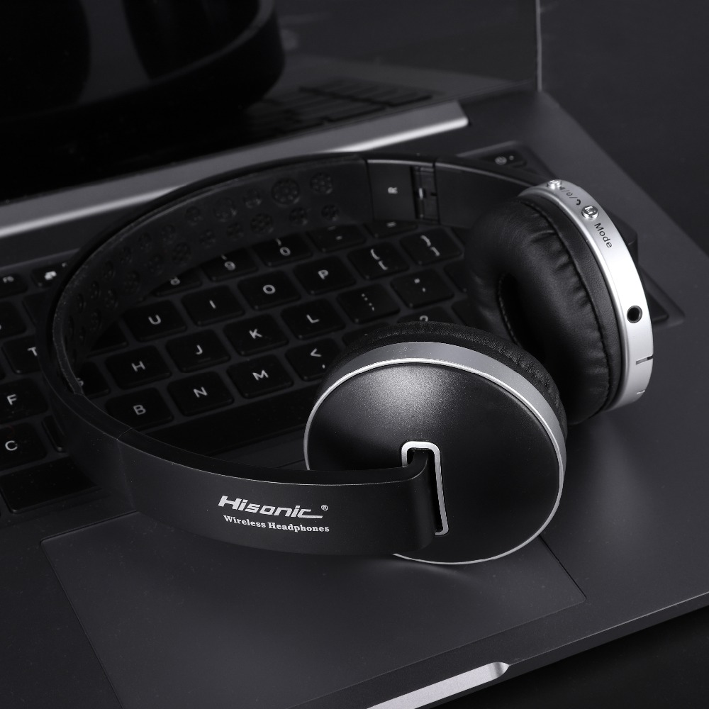 Hisonic Trådløse Hovedtelefoner Bluetooth Headset Stereo Foldbare - Bærbar lyd og video - Foto 4