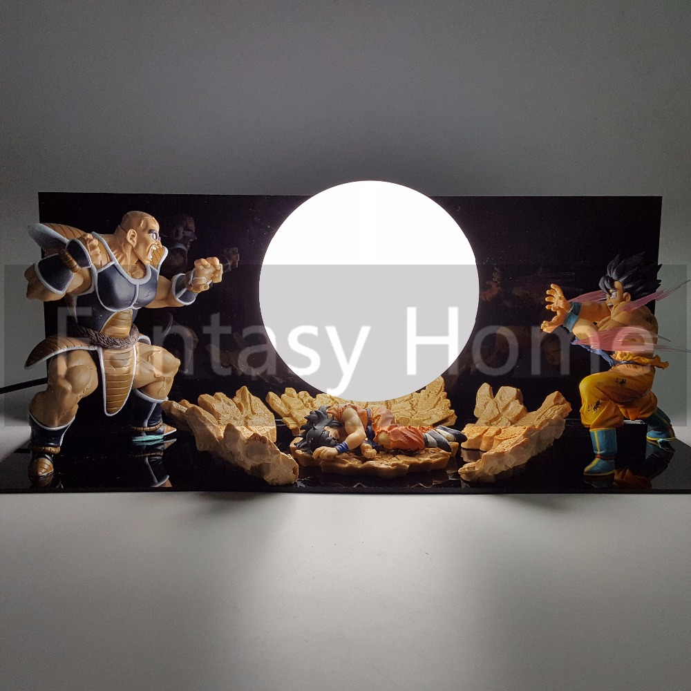 Dragon Ball Z Action Son Goku VS Nappa Fighting DIY Display Set Dragon Ball Saiyan Med Död Yamcha + Ball + Stand (Fire) DIY08