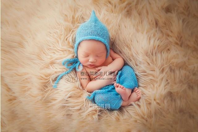 Newborn photography prop fur photo baby fur blanket crochet newborn baby picture props posing props