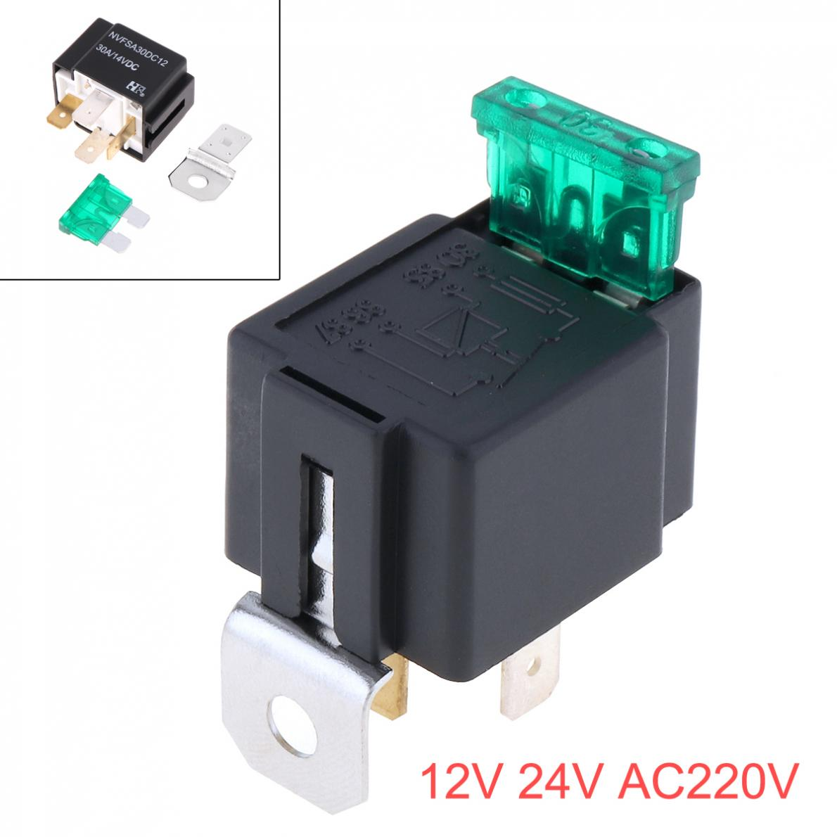 US $2 79 30% OFF|High Quality 12v 30A Automotive Car Auto Relay 4 Pin Relay  Socket Holder with Fuse for Car-in Car Switches & Relays from Automobiles