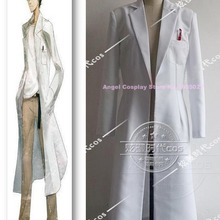 Anime Steins Gate Okabe Rintarou Figure Uniform Suit Cosplay Costume White  Single bdd67e618322