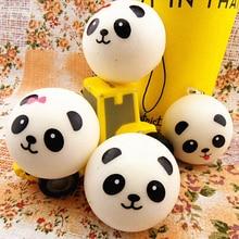 Cute and Squishy White Panda Keychains
