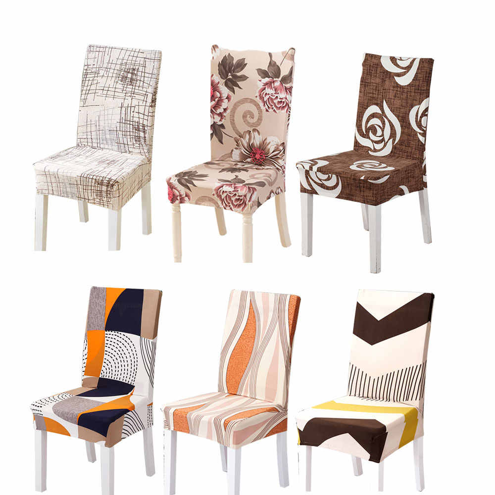 Spandex Elastic Chair Cover Modern Slipcovers Stretchable Protector Dining  Room Hotel Seat Case For Kitchen Chairs Removable 1PC