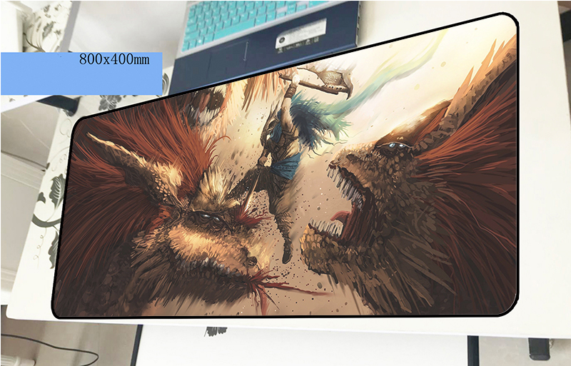 Monster Hunter mousepad gamer 3d 800x400x2mm gaming mouse pad Fashion font b notebook b font pc