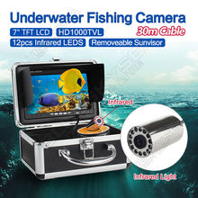 Free delivery!EYOYO 30m 7″ LCD Monitor HD 1000TVL Fish Finder Infrared Ice/Sea Fishing Digicam