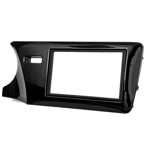 2 Din Car Radio Stereo Fascia Panel Frame DVD Dash Installation Kit for Honda City, Ballade, Grace 2014+ (Left Wheel)