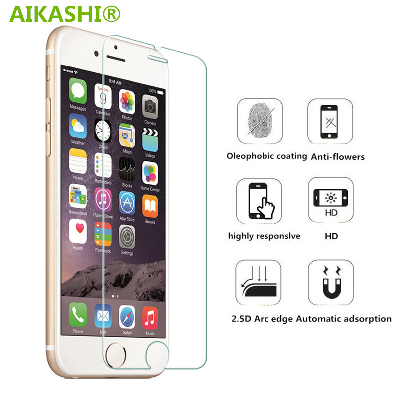 9H tempered glass For iphone 4s 5 5s 5c SE 6 6s plus 7 plus screen protector protective guard film front case cover clean kits
