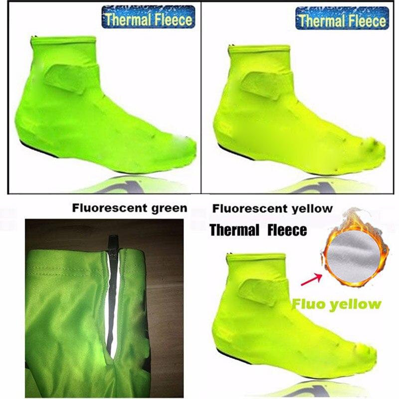 Winter Thermisch Nieuw 2016 Fluorescerend Groen Overschoenen Fietsschoenen 2016 Pro Team Schoenentas Fluo geel fietsschoen