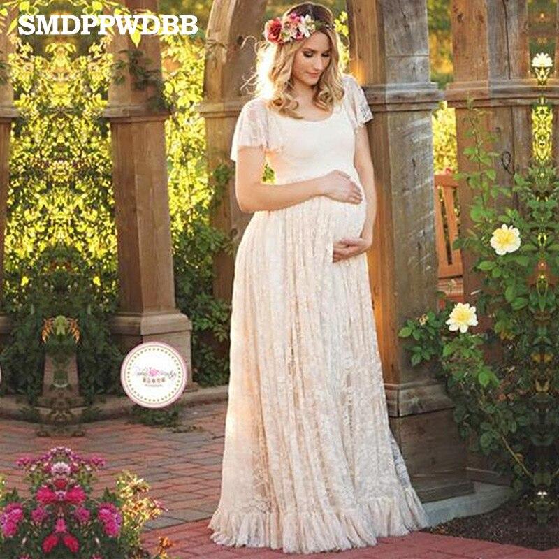 dd1e0c82c Smdppwdbb Maternidad fotografía falda Encaje embarazo ropa Maternidad  Vestidos para embarazada foto Shoot ropa en Vestidos de Mamá y bebé en  AliExpress.com ...