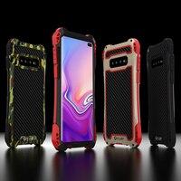 Металлический корпус из углеродного волокна для samsung Galaxy S10 S8 S9 Plus Note 9 8 Противоударная жёсткая Защита для samsung Note 8 чехол Note9 Note8