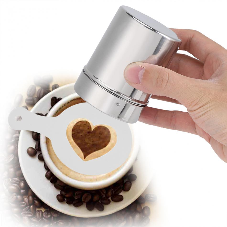 Stainless Steel Chocolate Shaker Cocoa Flour Salt Powder Icing Sugar Cappuccino Coffee Sifter Lid Shaker Kitchen Tools