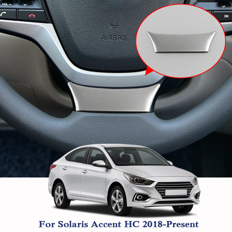Car Styling ABS Car Steering Wheel Sequin For Hyundai Solaris Accent HC 2018 2019 Car Internal Accessories Sticker Sequin
