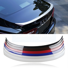цена на Car Accessories For Toyota Camry 2018 Car Styling Exterior High Qulity ABS Plastic Unpainted Primer Rear Wing Spoiler Cover