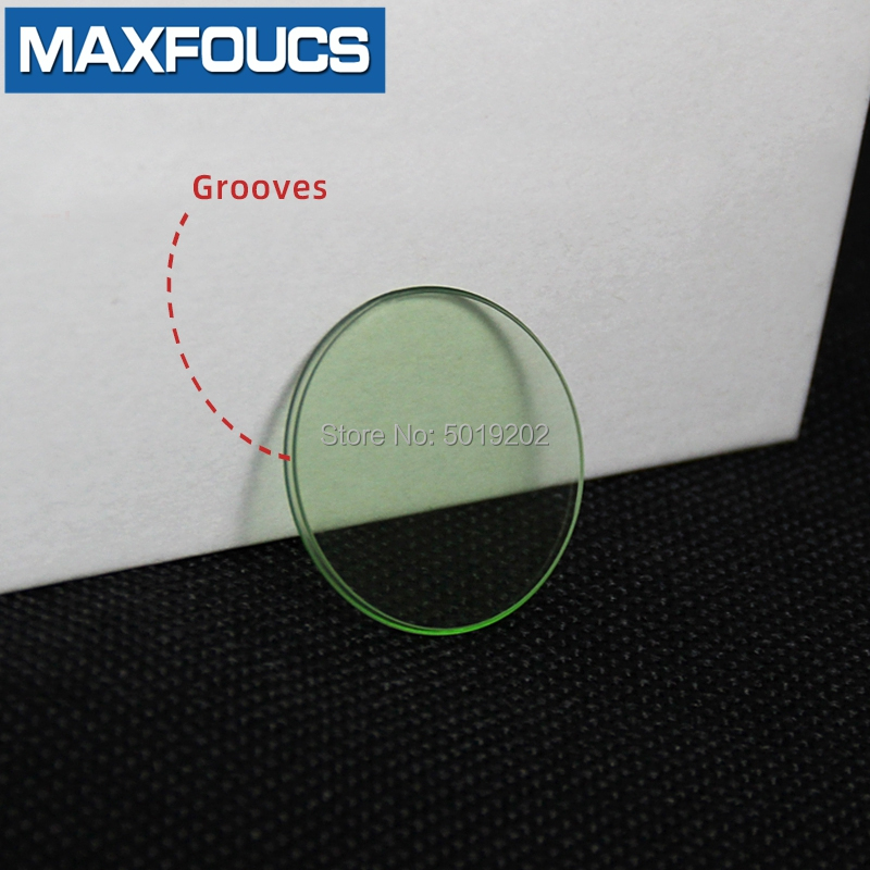 Smooth Round Watch Mineral glass For Rolex 116400 Alternative Transparent Green Glass Mirror Crystal Watch Accessories Parts