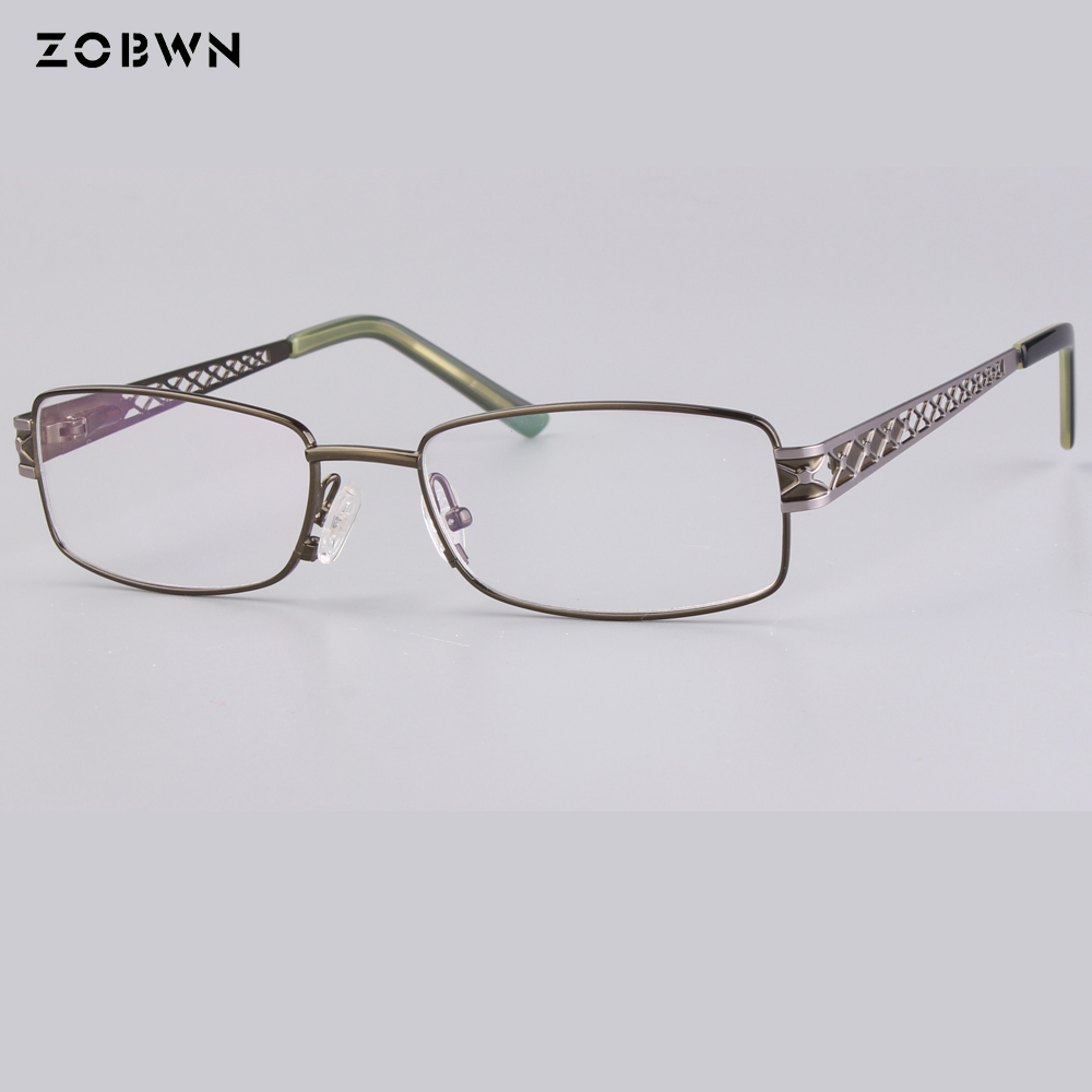 wholesale classic optical frames women man Fashion Brand Designer Metal Square glasses UV400 quadros spectacles computer eyewear in Men 39 s Eyewear Frames from Apparel Accessories