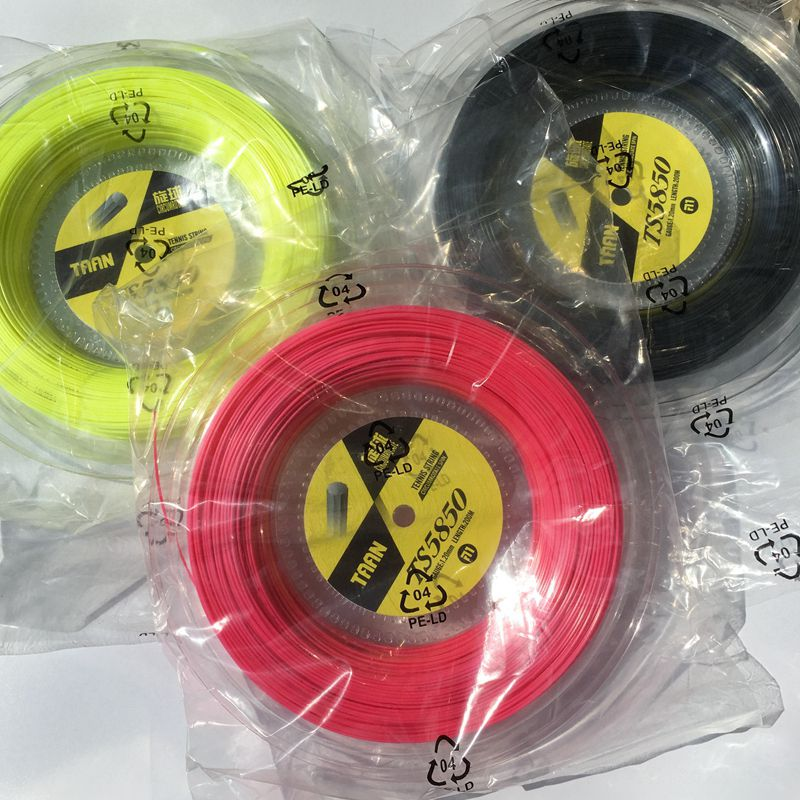 1 Reel TAAN TS5850 Tennis strings Spin polyester 10-angle hard-line strings 1.20mm tennis racket string 200M big banger zarsia 200m flash nylon tennis string 16g 1 35mm multifilamen tennis rackets string squash strings synthetic tennis strings