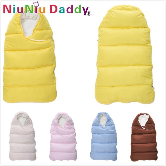 Niuniu Daddy Baby sleeping bag invierno sobre para recién nacidos dormir saco térmico algodón niños sleepsack en el transporte chlafsack