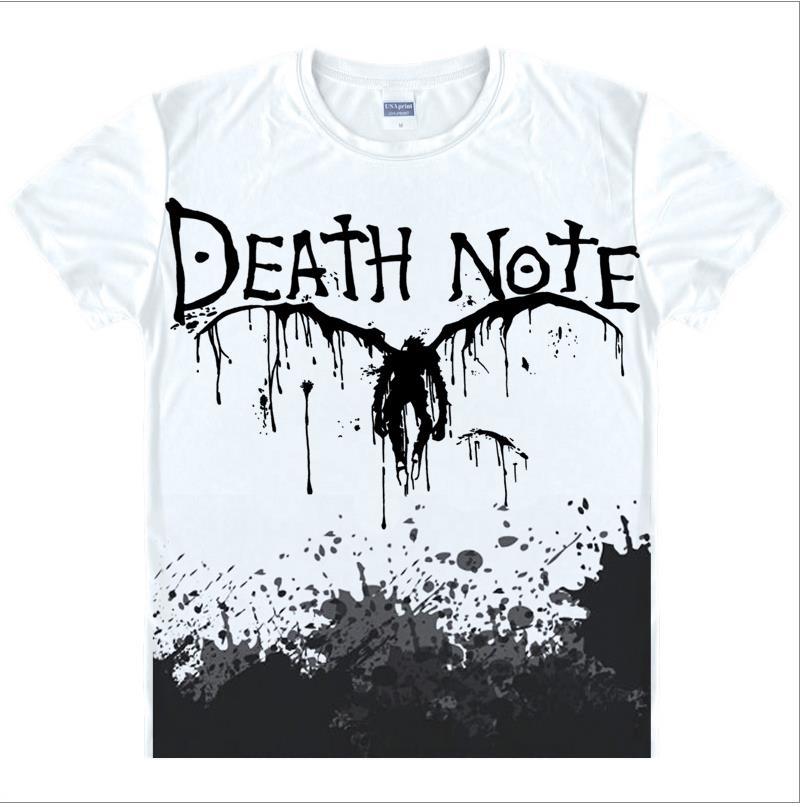 purchase cheap 13ac0 0cecd US $10.01 9% di SCONTO Death Note T Shirt Uomo Maniche Corte Uomo T Shirt  di moda top Dimensioni Della Cina Mens Top In Cotone Tees Casuali di ...