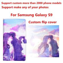 DIY Phone bag Personalized custom photo Picture PU leather case flip cover for Samsung Galaxy S9