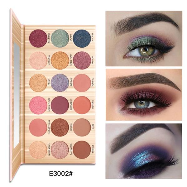 Pudaier Matte Eyeshadow Party Makeup Palette 18 Colors Glitter Metalic Pigments Waterproof Nude Eye Shadow Makeup Cosmetic Kit