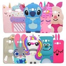 For Samsung J5 2016 Case Silicone Unicorn Stitch 3D Cartoon Soft Phone Case For Samsung Galaxy J5 2016 J510 SM-J510F Cover Cases чехол силиконовый для samsung galaxy j5 2016 sm j510f ds прозрачный