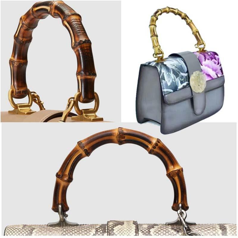10 stück, DIY 15,5X12 cm Natürliche bambus griffe für taschen, natur bambus griff für DIY taschen geldbörse alte gold-in Taschen Teile & Zubehör aus Gepäck & Taschen bei  Gruppe 2