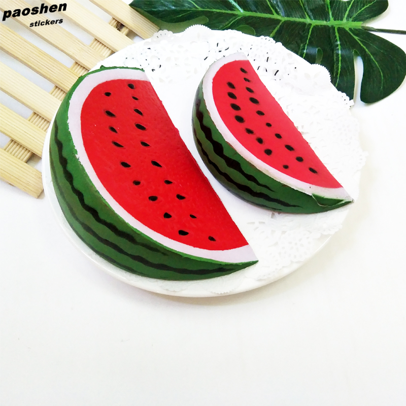 Kawaii Squishy Fun Cartoon Watermelon Toy Imitation Soft Slow Rebound Childrens Toys Decorations Anti-strss Squeeze Kids Gift