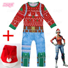 Yuletide Ranger Jumpsuit Game Battle Royale Yuletide Ranger Cosplay Costumes For Kids Children Bodysuit Girl/Boys
