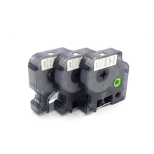 100 шт Совместимость DYMO D1 LABELMANAGER 45013 черного цвета на белом 12 мм DYMO D1 Label Printer этикетки производитель ленты