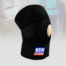 лучшая цена Professional Knee Pad Brace Spring Support Volleyball Sports Safety Patella Knee Support Black Kneepad Guard Protector Tapes