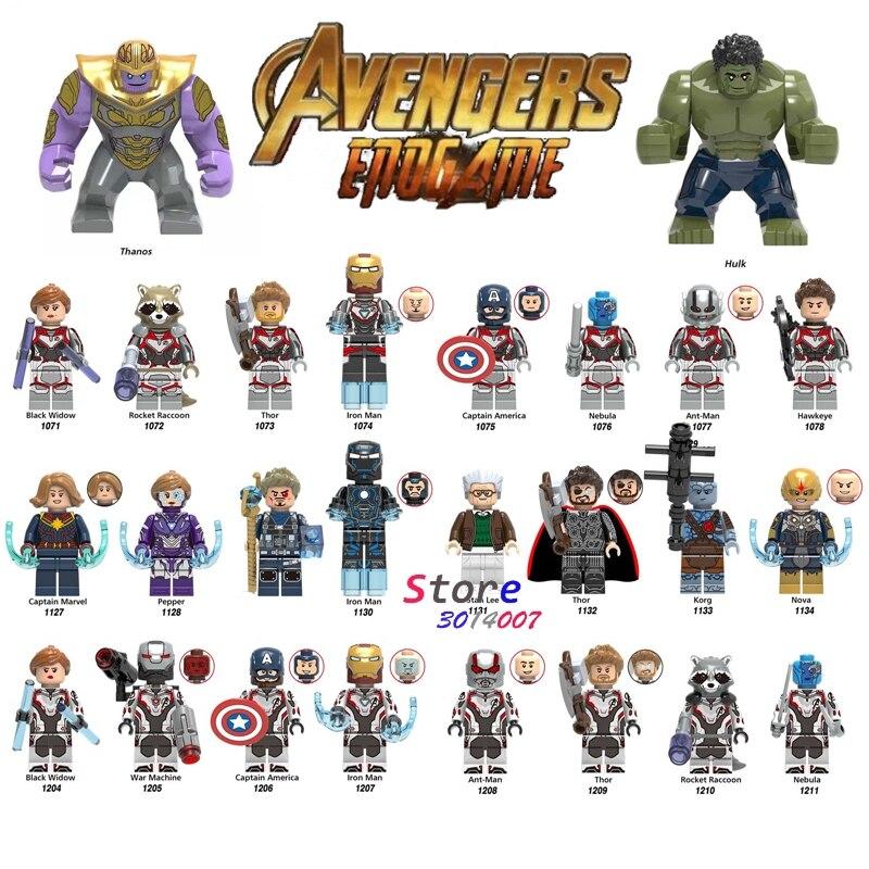 Top 2019 Full Set Movie Superheroes Avengers 4 Endgame Building Blocks Kid/'s Toy