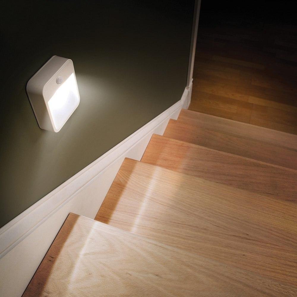 Led night light avec motion capteur sans fil mur lampe lumières capteur humain lumière lampe capteur