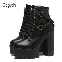Gdgydh/модные черные ботинки; Женская обувь на каблуке; Сезон