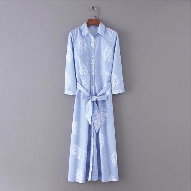 cf9c4649a Falda Damas Azul Oficina Ropa Cinturón Primavera; De Vestidos Floral ...