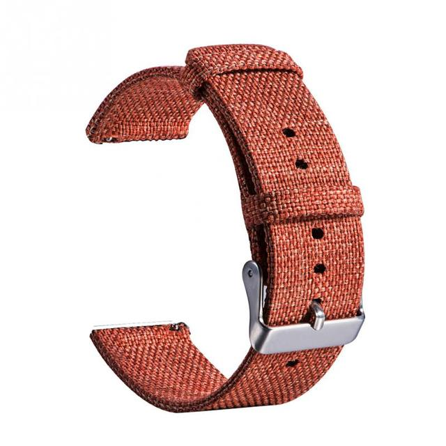 22mm Nylon Canvas Solid Watch Strap Unisex Wrist Strap Adjustable Universal with