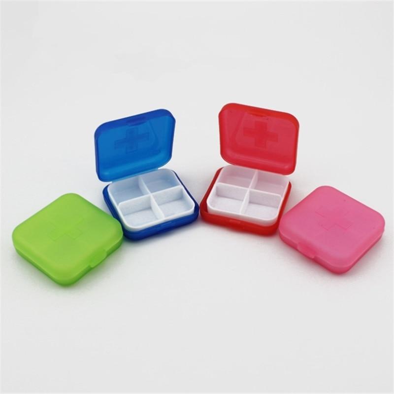 1db Square Medical Kit Pill ékszer Szervező tároló doboz 4 szín - Szervezés és tárolás