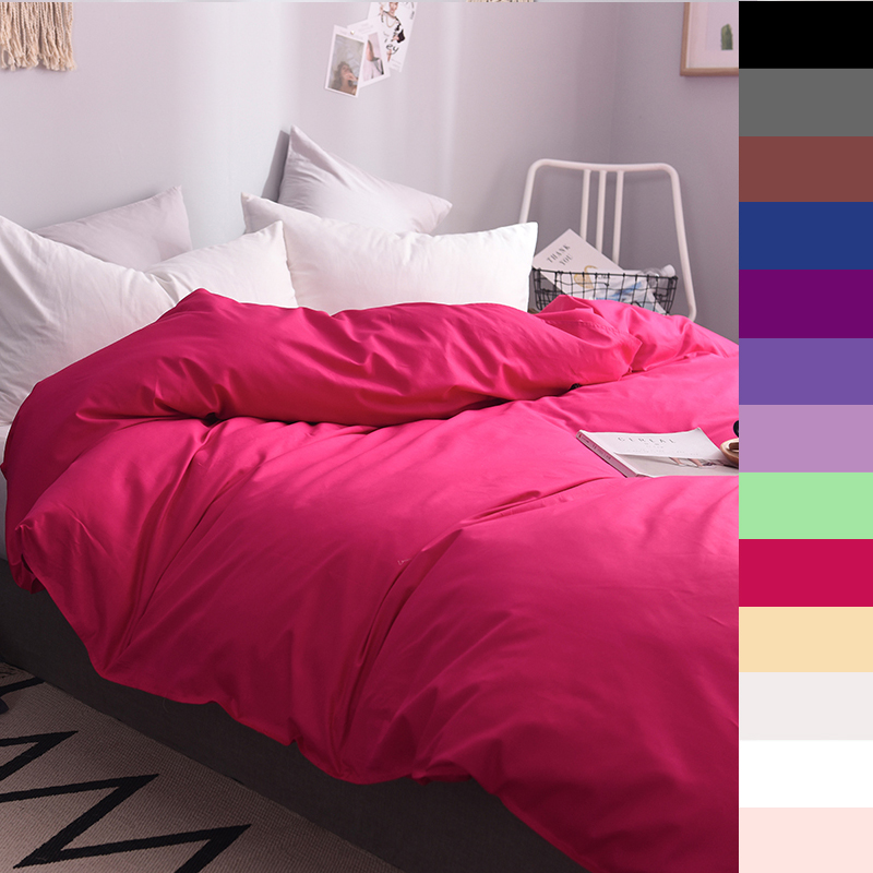 Custom Duvet Cover 1 Persons Quilts Covers King Queen Double 600TC Pure Cotton Luxury Bedding Nordic 150*200 <font><b>140*200</b></font> Red image