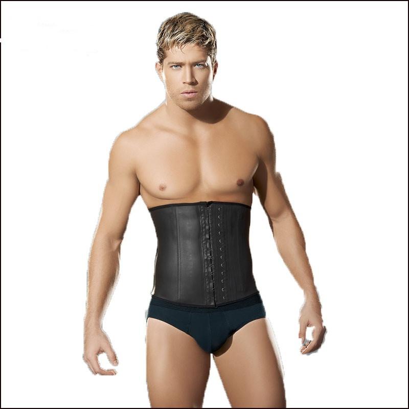 Latex-Waist-Trainer-Vest-for-Men-Black-Waist-Cincher-Firm-Tummy-Slimming-Male-Waist-Cincher-Corset