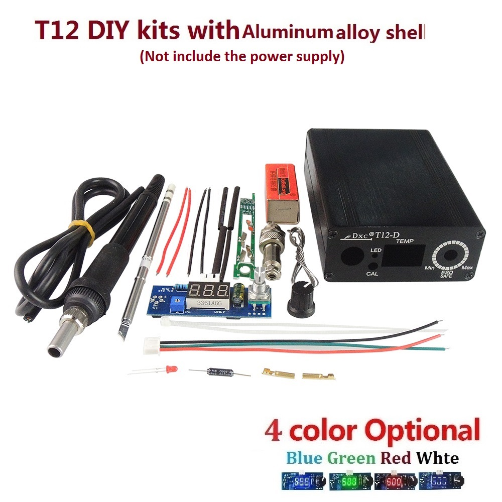 New Electric Unit Digital Soldering Iron Station Temperature Controller Kits for HAKKO T12 Handle DIY kits LED vibration switch