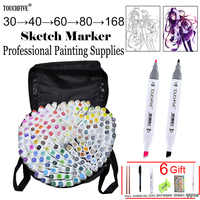 touchfive 30/60/80/168colors art markers Oily alcohol marker for drawing manga Brush pen Animation Design Art Supplies Marcador