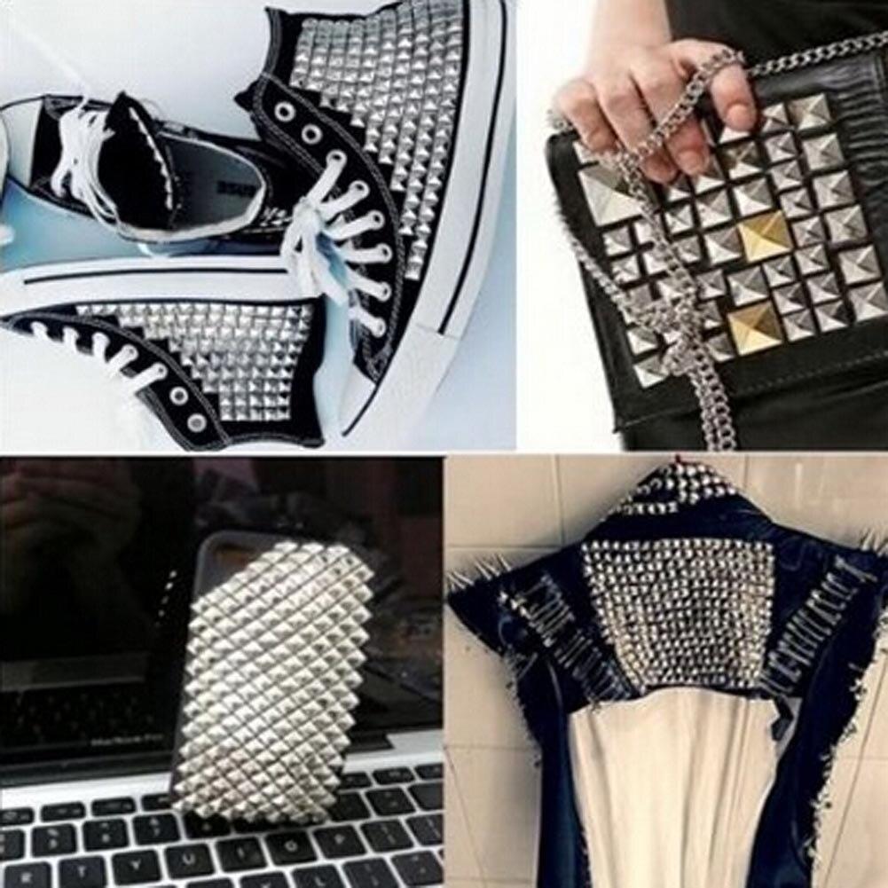 100 Pcs/Lot Garment Rivets Rock Punk Silver Spikes Stud Revit Trim DIY Hand Make Clothing Shoes Bag Garment Rivit